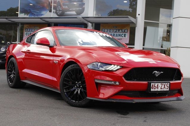 Used Ford Mustang FN 2018MY GT Fastback SelectShift Newstead, 2018 Ford Mustang FN 2018MY GT Fastback SelectShift Red 10 Speed Sports Automatic Fastback