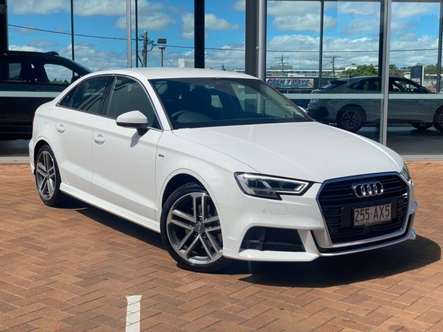 Demo Audi A3 8V MY20 40 TFSI S Tronic S Line Plus Toowoomba, 2020 Audi A3 8V MY20 40 TFSI S Tronic S Line Plus White 7 Speed Sports Automatic Dual Clutch Sedan