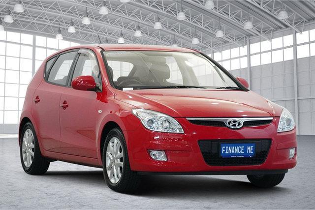 Used Hyundai i30 FD MY10 SLX Victoria Park, 2010 Hyundai i30 FD MY10 SLX Shine Red 5 Speed Manual Hatchback