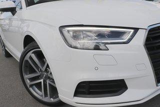 2018 Audi A3 8V MY18 S Tronic Ibis White 7 Speed Sports Automatic Dual Clutch Sedan.