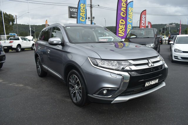 Used Mitsubishi Outlander ZK MY16 Exceed 4WD Gosford, 2015 Mitsubishi Outlander ZK MY16 Exceed 4WD Silver 6 Speed Sports Automatic Wagon