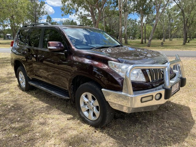 Pre-Owned Toyota Landcruiser Prado KDJ150R GXL (4x4) Chinchilla, 2011 Toyota Landcruiser Prado KDJ150R GXL (4x4) Dark Furnace 5 Speed Sequential Auto Wagon
