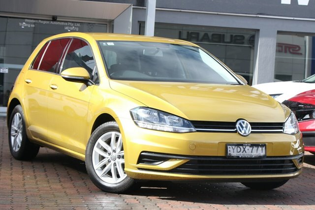 Used Volkswagen Golf 7.5 MY18 110TSI DSG Trendline Parramatta, 2017 Volkswagen Golf 7.5 MY18 110TSI DSG Trendline Yellow 7 Speed Sports Automatic Dual Clutch