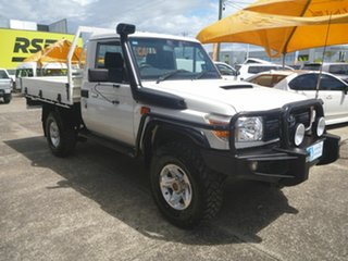 2015 Toyota Landcruiser VDJ79R Workmate White 5 Speed Manual Cab Chassis.