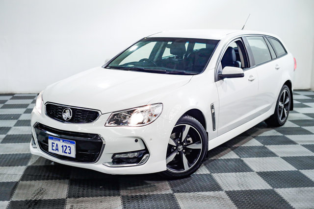 Used Holden Commodore VF II MY17 SV6 Sportwagon Edgewater, 2017 Holden Commodore VF II MY17 SV6 Sportwagon White 6 Speed Sports Automatic Wagon