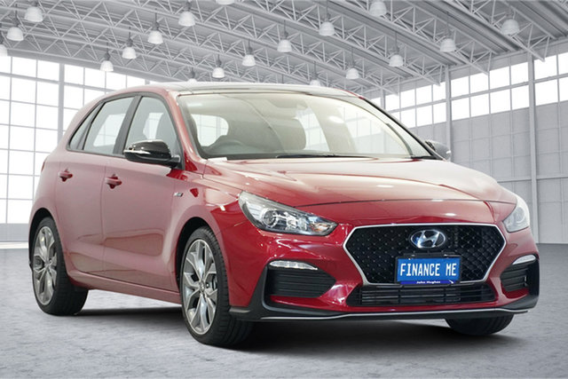 Used Hyundai i30 PD.3 MY20 N Line D-CT Victoria Park, 2020 Hyundai i30 PD.3 MY20 N Line D-CT Fiery Red 7 Speed Sports Automatic Dual Clutch Hatchback