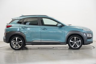 2020 Hyundai Kona OS.3 MY20 Highlander 2WD Ceramic Blue 6 Speed Sports Automatic Wagon