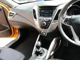 2012 Hyundai Veloster Yellow 5 Speed Manual Hatchback