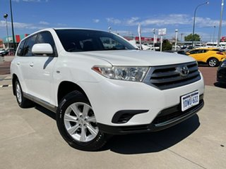 2012 Toyota Kluger GSU40R MY11 Upgrade KX-R (FWD) 7 Seat White 5 Speed Automatic Wagon.