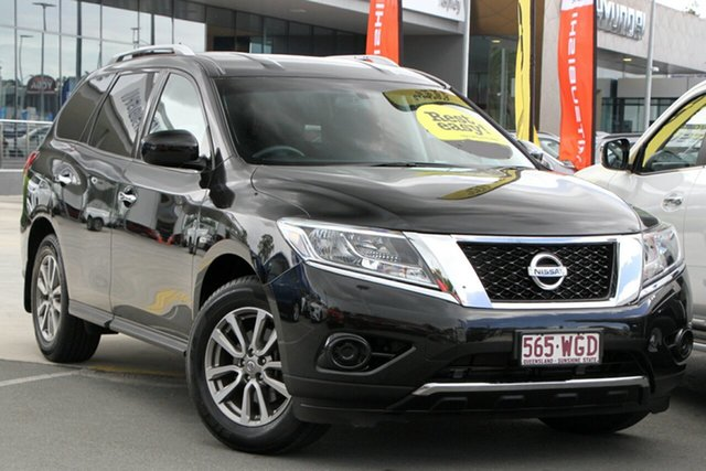 Used Nissan Pathfinder R52 MY15 ST X-tronic 2WD Aspley, 2015 Nissan Pathfinder R52 MY15 ST X-tronic 2WD Black 1 Speed Constant Variable Wagon