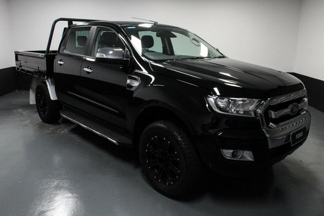 Used Ford Ranger PX MkII 2018.00MY XLT Double Cab Hamilton, 2018 Ford Ranger PX MkII 2018.00MY XLT Double Cab Shadow Black 6 Speed Sports Automatic Utility