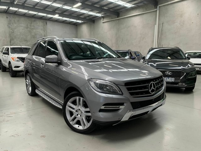 Used Mercedes-Benz M-Class W166 ML250 BlueTEC 7G-Tronic + Coburg North, 2013 Mercedes-Benz M-Class W166 ML250 BlueTEC 7G-Tronic + Silver 7 Speed Sports Automatic Wagon