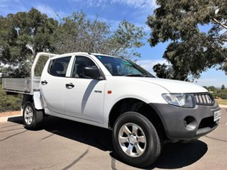 2009 Mitsubishi Triton ML MY09 GLX Double Cab 4x2 White 5 Speed Manual Utility.