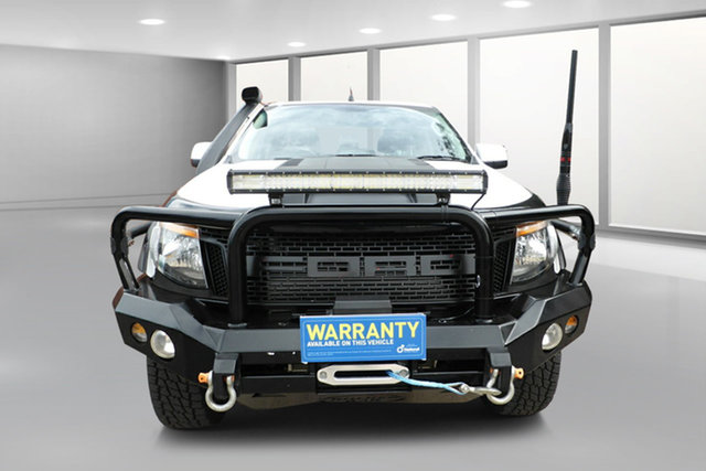Used Ford Ranger PX XLS Double Cab West Footscray, 2015 Ford Ranger PX XLS Double Cab White 6 Speed Sports Automatic Utility