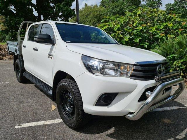 Used Toyota Hilux GUN126R SR Double Cab Stuart Park, 2018 Toyota Hilux GUN126R SR Double Cab White 6 Speed Manual Cab Chassis