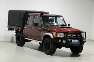 2017 Toyota Landcruiser LC70 VDJ79R MY17 GXL (4x4) Merlot 5 Speed Manual Double Cab Chassis