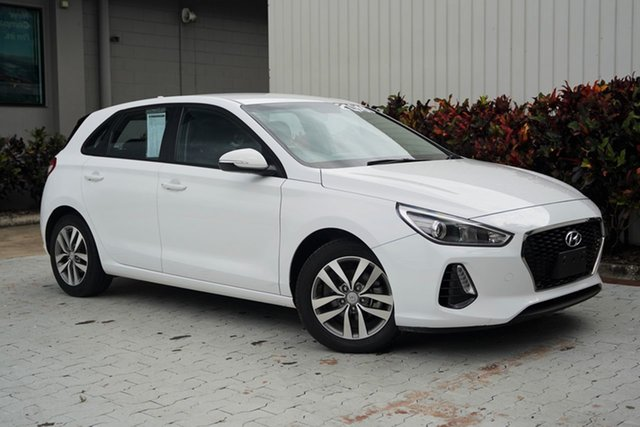 Used Hyundai i30 PD MY18 Active Cairns, 2018 Hyundai i30 PD MY18 Active White 6 Speed Sports Automatic Hatchback