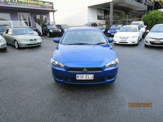 2011 Mitsubishi Lancer CJ MY11 SX Blue 5 Speed Manual Sedan.