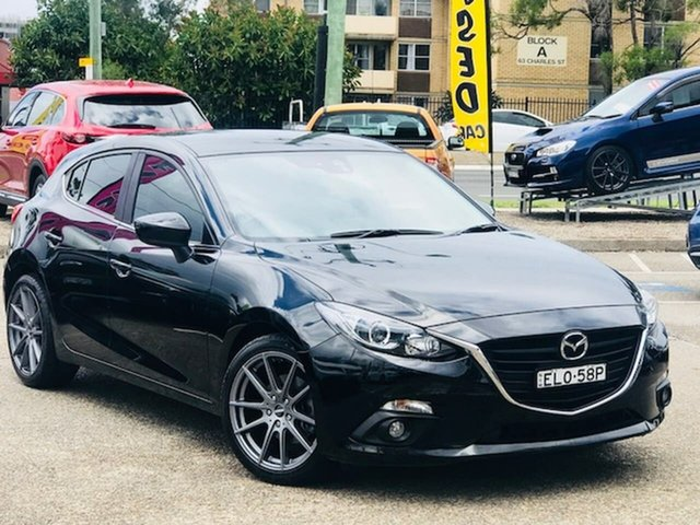 Used Mazda 3 BN5438 SP25 SKYACTIV-Drive Liverpool, 2016 Mazda 3 BN5438 SP25 SKYACTIV-Drive Black 6 Speed Sports Automatic Hatchback