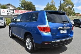 2012 Toyota Kluger GSU40R MY12 KX-R 2WD Blue 5 Speed Sports Automatic Wagon.