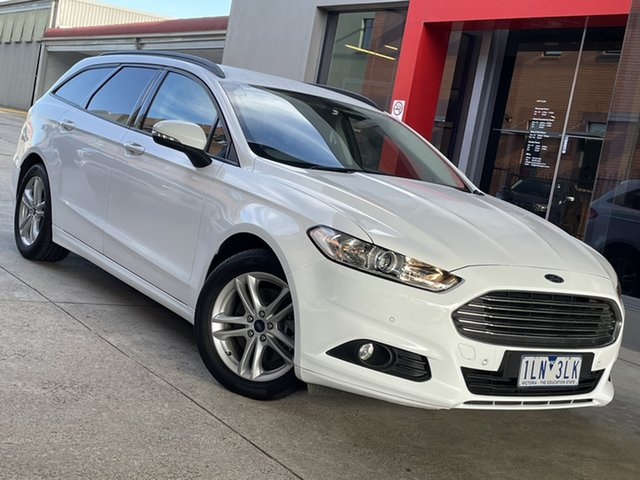 Pre-Owned Ford Mondeo MD 2017.50MY Ambiente South Morang, 2017 Ford Mondeo MD 2017.50MY Ambiente White 6 Speed Sports Automatic Dual Clutch Wagon
