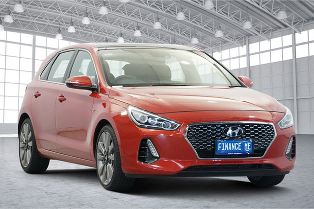 Used Hyundai i30 PD MY18 SR D-CT Premium Victoria Park, 2017 Hyundai i30 PD MY18 SR D-CT Premium Phoenix Orange 7 Speed Sports Automatic Dual Clutch