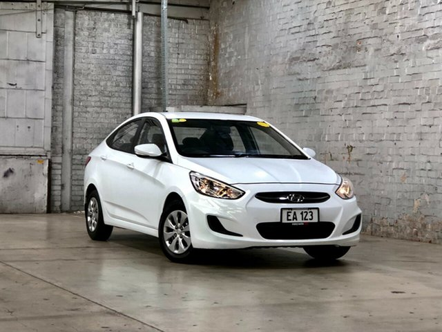 Used Hyundai Accent RB4 MY17 Active Mile End South, 2017 Hyundai Accent RB4 MY17 Active White 6 Speed Constant Variable Sedan