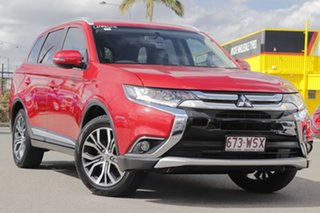 2016 Mitsubishi Outlander ZK MY16 LS 2WD Red Metallic 6 Speed Constant Variable Wagon.