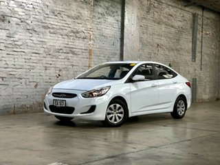 2017 Hyundai Accent RB4 MY17 Active White 6 Speed Constant Variable Sedan.