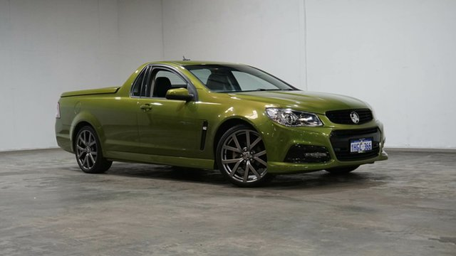 Used Holden Ute VF MY15 SV6 Ute Lightning Welshpool, 2015 Holden Ute VF MY15 SV6 Ute Lightning Green 6 Speed Manual Utility