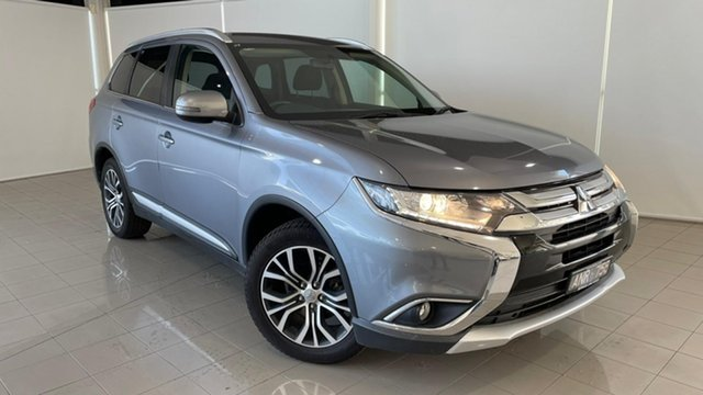 Used Mitsubishi Outlander ZK MY17 LS 4WD Safety Pack Deer Park, 2016 Mitsubishi Outlander ZK MY17 LS 4WD Safety Pack Grey 6 Speed Constant Variable Wagon