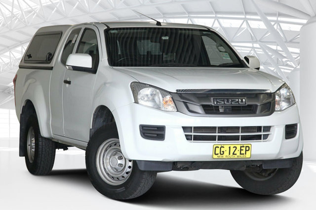 Used Isuzu D-MAX TF MY15 SX (4x2) Moorebank, 2015 Isuzu D-MAX TF MY15 SX (4x2) White 5 Speed Automatic Space Cab Utility