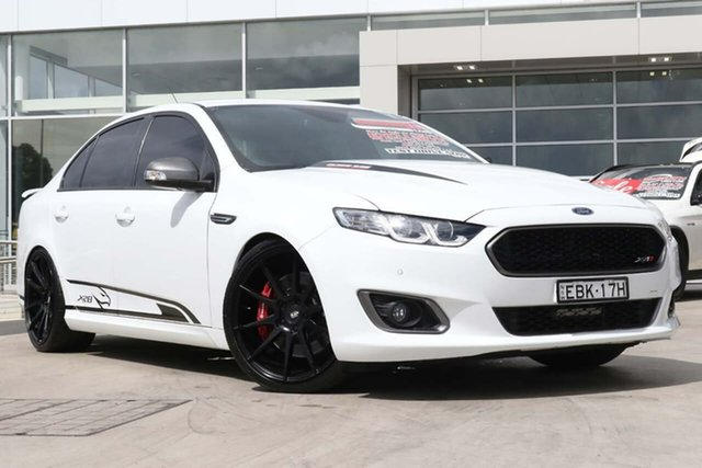 Used Ford Falcon FG X XR8 Liverpool, 2015 Ford Falcon FG X XR8 Winter White 6 Speed Sports Automatic Sedan