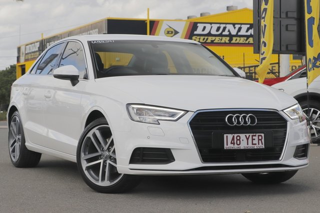 Used Audi A3 8V MY18 S Tronic Rocklea, 2018 Audi A3 8V MY18 S Tronic Ibis White 7 Speed Sports Automatic Dual Clutch Sedan