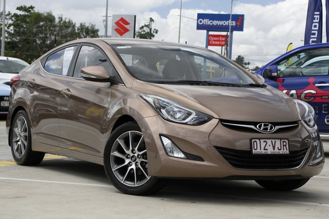 Used Hyundai Elantra MD3 Active Aspley, 2014 Hyundai Elantra MD3 Active Bronze 6 Speed Sports Automatic Sedan