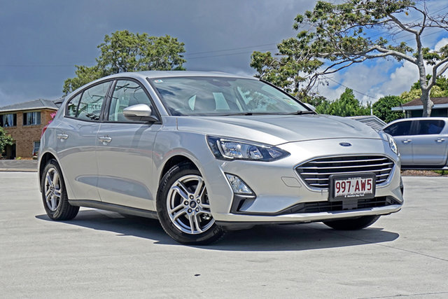 Used Ford Focus SA 2020.25MY Trend Capalaba, 2019 Ford Focus SA 2020.25MY Trend Moondust Silver 8 Speed Automatic Hatchback