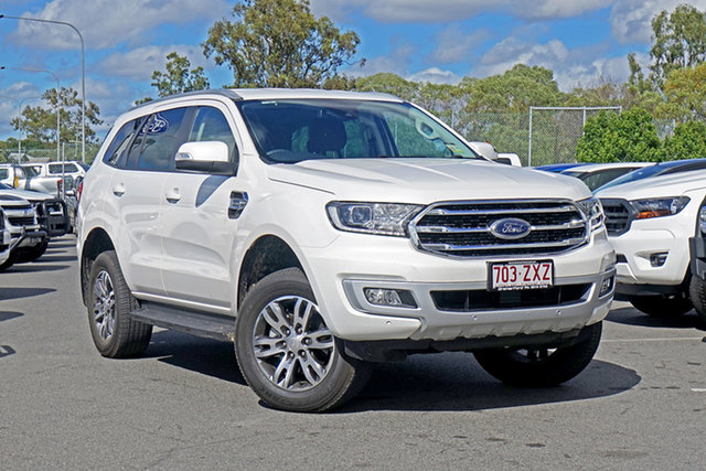 Used Ford Everest UA II 2020.75MY Trend Ebbw Vale, 2020 Ford Everest UA II 2020.75MY Trend Alabaster White 10 Speed Sports Automatic SUV