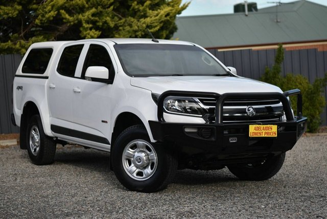 Used Holden Colorado RG MY19 LS Pickup Crew Cab Morphett Vale, 2018 Holden Colorado RG MY19 LS Pickup Crew Cab White 6 Speed Sports Automatic Utility