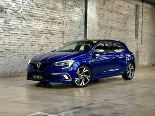 2016 Renault Megane BFB GT EDC Blue 7 Speed Sports Automatic Dual Clutch Hatchback.