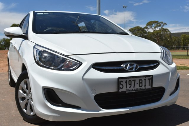 Used Hyundai Accent RB2 MY15 Active St Marys, 2015 Hyundai Accent RB2 MY15 Active White 6 Speed Manual Hatchback