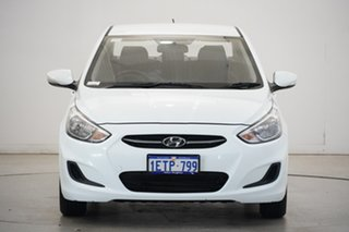 2015 Hyundai Accent RB2 MY15 Active White 6 Speed Manual Sedan.