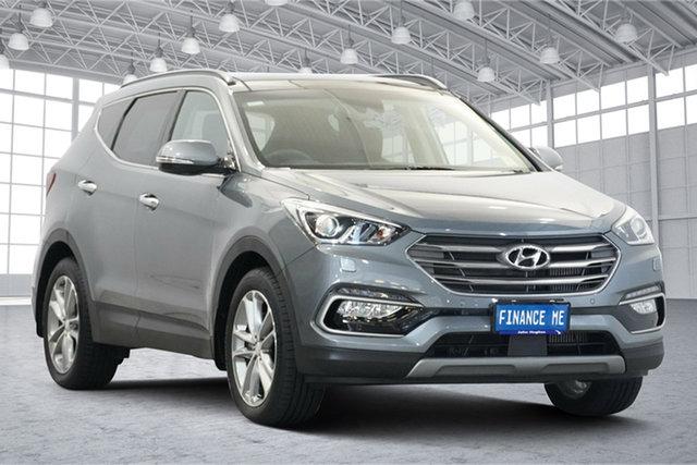 Used Hyundai Santa Fe DM5 MY18 Highlander Victoria Park, 2017 Hyundai Santa Fe DM5 MY18 Highlander Titanium Silver 6 Speed Sports Automatic Wagon