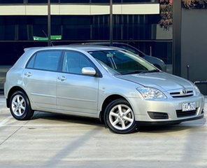 2004 Toyota Corolla ZZE122R 5Y Ascent Silver 4 Speed Automatic Hatchback.