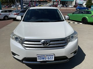 2012 Toyota Kluger GSU40R MY11 Upgrade KX-R (FWD) 7 Seat White 5 Speed Automatic Wagon
