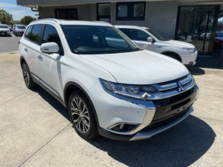 2016 Mitsubishi Outlander ZK MY16 Exceed 4WD White 6 Speed Constant Variable Wagon.