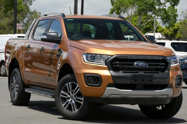 Used Ford Ranger PX MkIII 2020.25MY Wildtrak North Lakes, 2020 Ford Ranger PX MkIII 2020.25MY Wildtrak Orange 10 Speed Sports Automatic Double Cab Pick Up