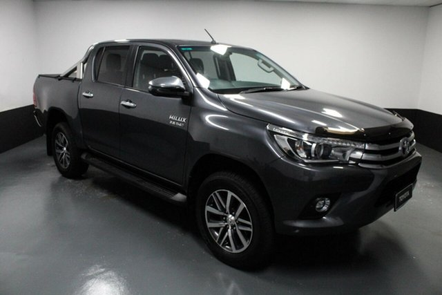Used Toyota Hilux GUN126R SR5 Double Cab Hamilton, 2018 Toyota Hilux GUN126R SR5 Double Cab Grey 6 Speed Sports Automatic Utility