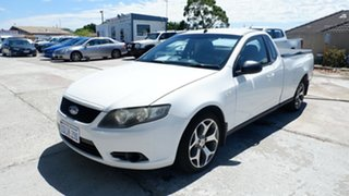 2010 Ford Falcon FG Super Cab White 5 Speed Automatic Cab Chassis.