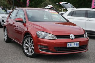 2012 Volkswagen Golf VII 103TSI DSG Highline Sunset Red 7 Speed Sports Automatic Dual Clutch.