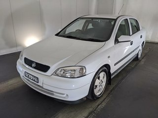 2002 Holden Astra TS CD White 4 Speed Automatic Sedan.